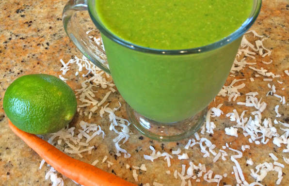 Pad Thai Coconut Water Smoothie with coconut water, carrots, limes, and more.