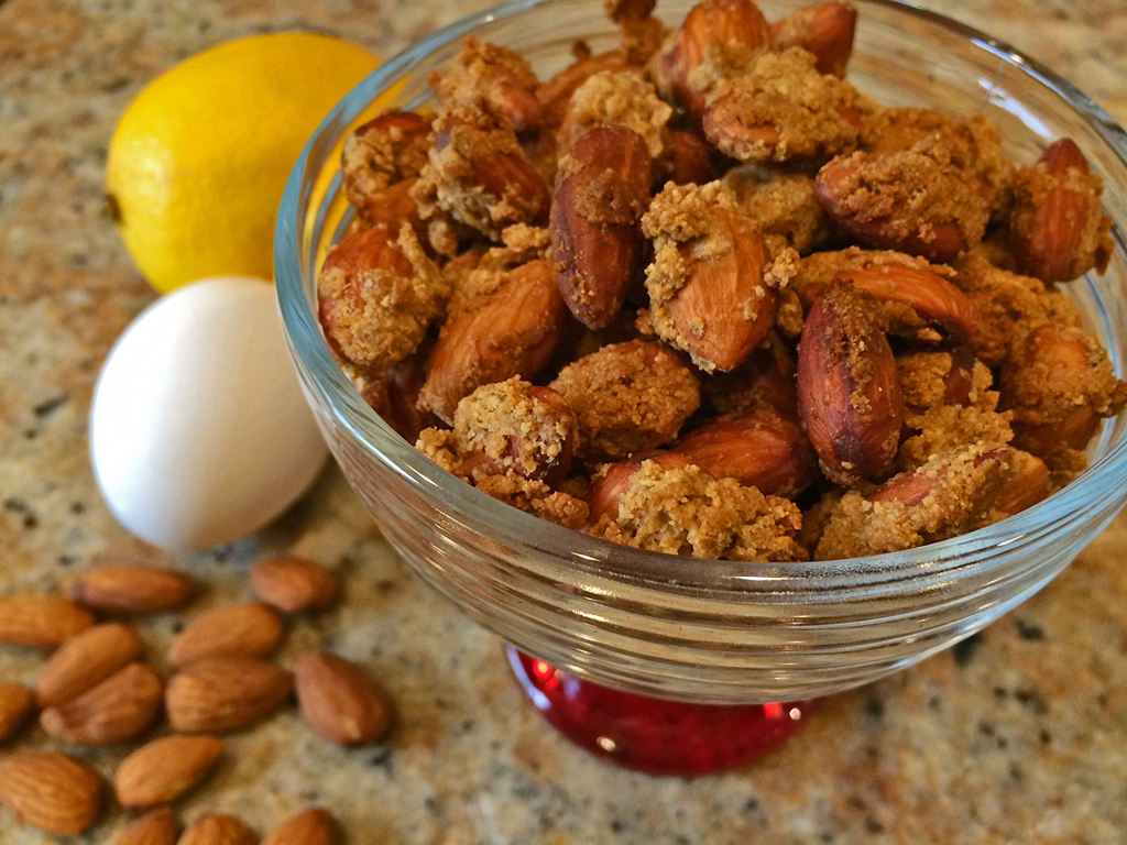 Toasted Almonds with coconut oil, lemon, and graham cracker crust.
